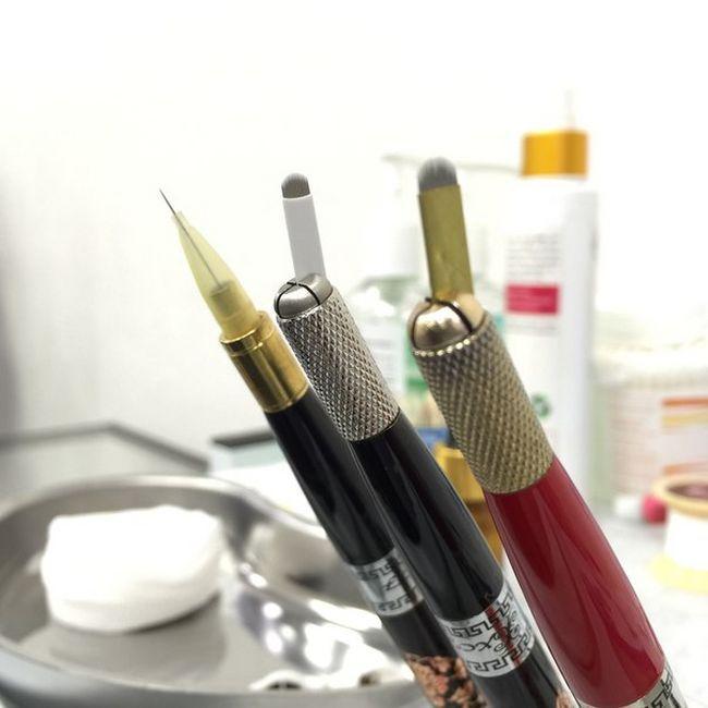 Ручка для микроблейдинга бровей